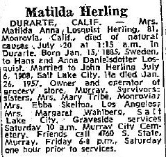 Anna Matilda <I>Losquist</I> Herling