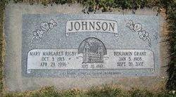 Mary Margaret <I>Rigby</I> Johnson