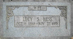 Lucy Elizabeth <I>Sanders</I> Hess