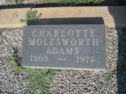 Charlotte <I>Molesworth</I> Adams