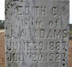 Edith Catherine <I>Dunn</I> Adams