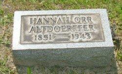 Hannah <I>Orr</I> Altdoerffer