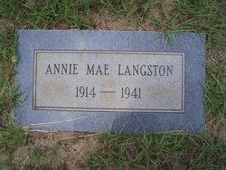 Annie Mae Langston