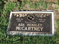 Ada <I>Hensley</I> McCartney