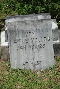 """Mary Francis """"Fannie"""" <I>Rigsby</I> Moulds"""