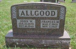 Mrs Francis Margaret <I>Snodgrass</I> Allgood