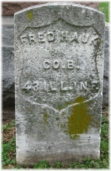 "Pvt Freidrich ""Fred"" Hauk"