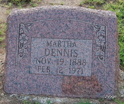 Martha Jane <I>Simons</I> Dennis
