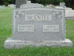 "Wilhelmina ""Minnie"" <I>Shoudt</I> McEntee"