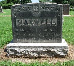 Jeanette <I>Benner</I> Maxwell