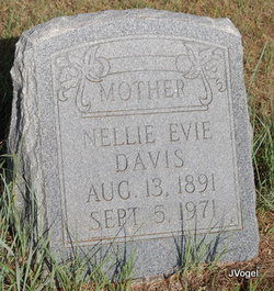 Nellie Evie <I>Witt</I> Davis