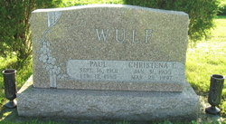 Christena C <I>Japp</I> Wulf