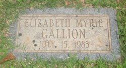 Elizabeth Myrie Gallion