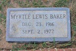 Myrtle <I>Lewis</I> Baker