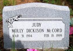 Molly Estelle <I>Dickison</I> McCord Judy
