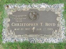 "Christopher T ""Chris"" Boyd"