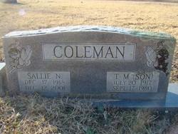 Sallie Norma <I>Burns</I> Coleman