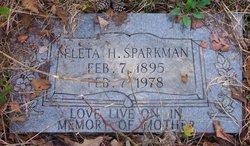 Fleta H Sparkman