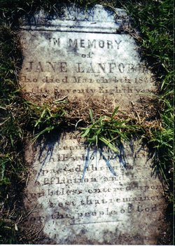 "Rebecca Jane ""Jennie"" <I>Leatherwood</I> Lanford"