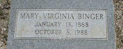 Mary Virginia <I>Hendrick</I> Binger