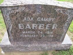 Ada Pearl <I>Tyson</I> Gamby Barber
