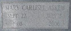 Mary <I>Carlisle</I> Askew