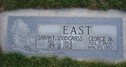 Sarah Missouri Francis <I>Snodgrass</I> East