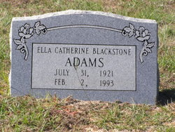 Ella Catherine <I>Blackstone</I> Adams