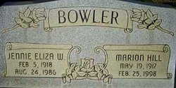 Jennie Eliza <I>Wadsworth</I> Bowler