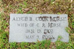 Alyce B <I>Cook</I> Morse