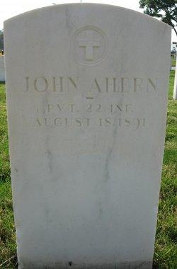 PVT John Ahern