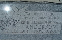 Ruth Elizabeth <I>Pehrson</I> Anderson