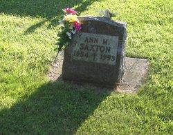 Ann <I>Dingmann</I> Saxton
