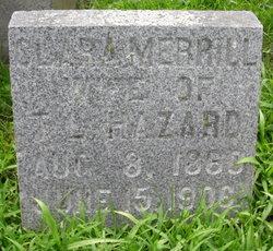 Dr Clara C. <I>Merrill</I> Hazard