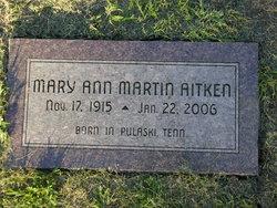Mary Ann <I>Martin</I> Aitken