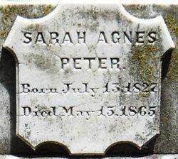 Sarah Agnes Peter