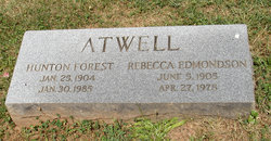 Rebecca <I>Edmondson</I> Atwell