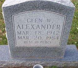 Glen Weldon Alexander