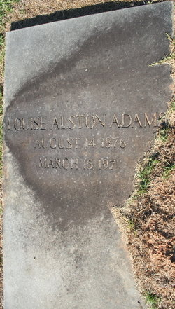 Anna Louise <I>Alston</I> Adams