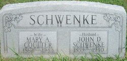 Mary A. <I>Coulter</I> Schwenke