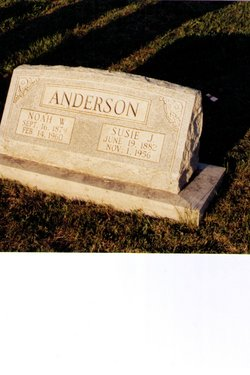 Susie Jane <I>Foster</I> Anderson
