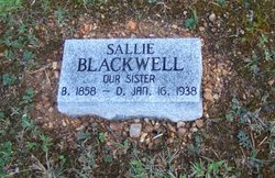"Sarah ""Sallie"" Blackwell"