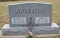 Rosella Clara <I>Koehler</I> Anderson