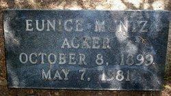 Eunice <I>Muntz</I> Acker