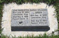Sarah <I>Williams</I> Warburton