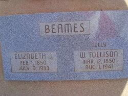 Elizabeth Jane <I>Foote</I> Beames