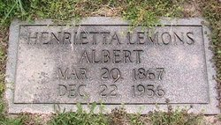 Henrietta <I>Lemons</I> Albert