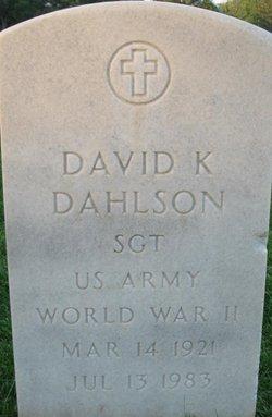 David K Dahlson