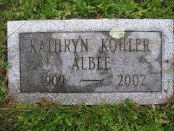 Kathryn <I>Kohler</I> Albee