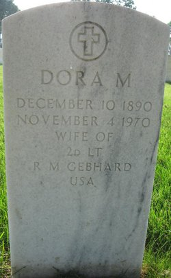 """Doretta Agnes """"Dora M"""" <I>Mitchell</I> Gebhard"""